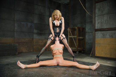 Stunning blonde mistress domination